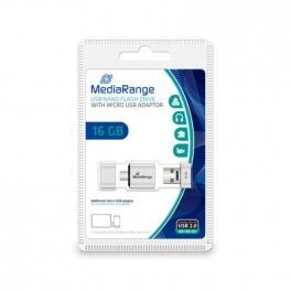PENDRIVE DUO MEDIARANGE NANO 16GB MICRO USB OTG
