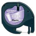 CINTA DYMO LETRATAG PLASTIC TRANSPARENTE 12267