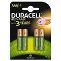 Duracell recardables HR03 AAA 4UNID 750 mAh 1.2v