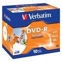 DVD-R Verbatim Printable Jewell Individual 43521
