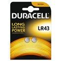 LR43 Duracell 1.5v blister 2 Unidades