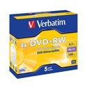 DVD+RW VERBATIM REGRABABLE JEWEL 43229 CAJA 5UN